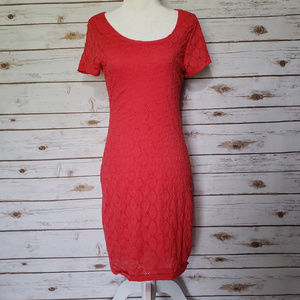 Isaac Mizrahi Cap Sleeve Lace Dress